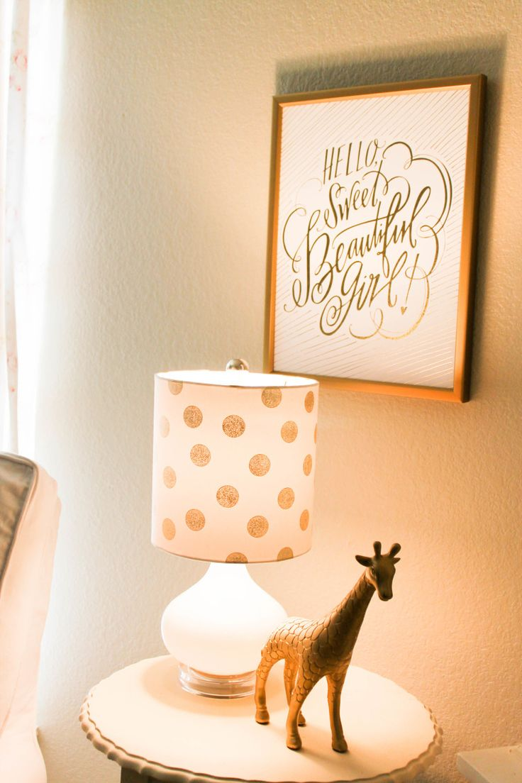 Gold Nursery Decor - love this sweet little corner of the room.