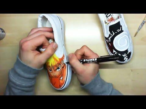 How I Draw Naruto Custom Painted Shoes    Simone Manenti