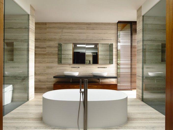 Salle de bain - 65BTP-House inspirée de la nature, Singapour