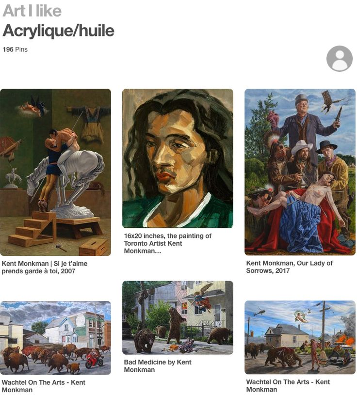 What I love about social media. This person Nicole Tremblay, found my portrait of Artist Kent Monkman and pinned it on a page of his painting. It was so cool to see it in that context. Awesome. Thanks Nicole who ever you are. #VinceMancusoArt