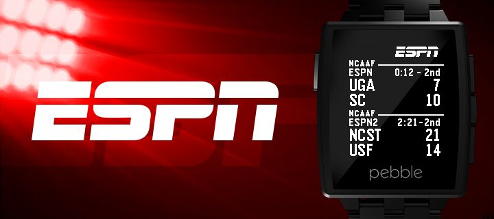 Basketball, baseball, football, and other sports scores can be seen in real-time with the native ESPN app.