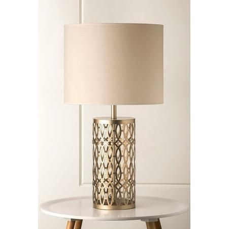 999 Zillo Gold Lattice Pattern Table Lamp