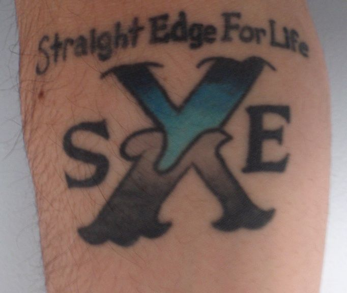 17 best ideas about straight edge tattoo on pinterest traditional drink sleeves old school. Black Bedroom Furniture Sets. Home Design Ideas