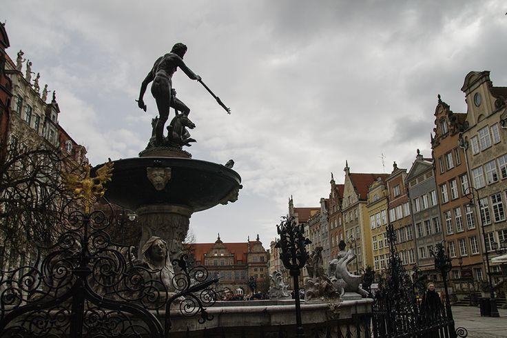 neptunus suihkulähde Gdanskissa