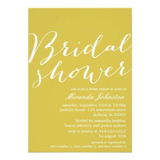 Green Chic Bridal Shower Invitations  #wedding #savethedate