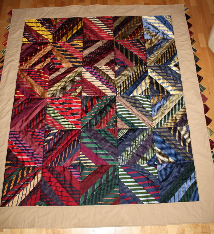 Neck tie Quilt on Etsy/shop/ Happy quilt designs                                                                                                                                                     More