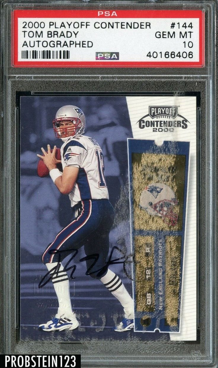 Check out what this rare autographed version of tom brady