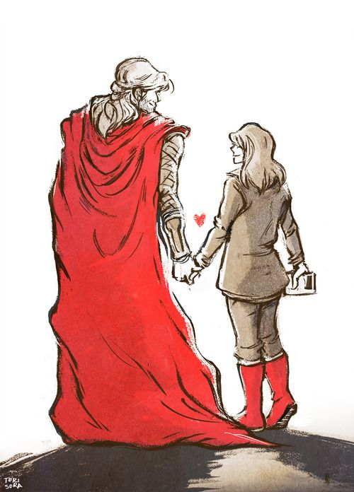 Thor and Jane by torisora on Tumblr
