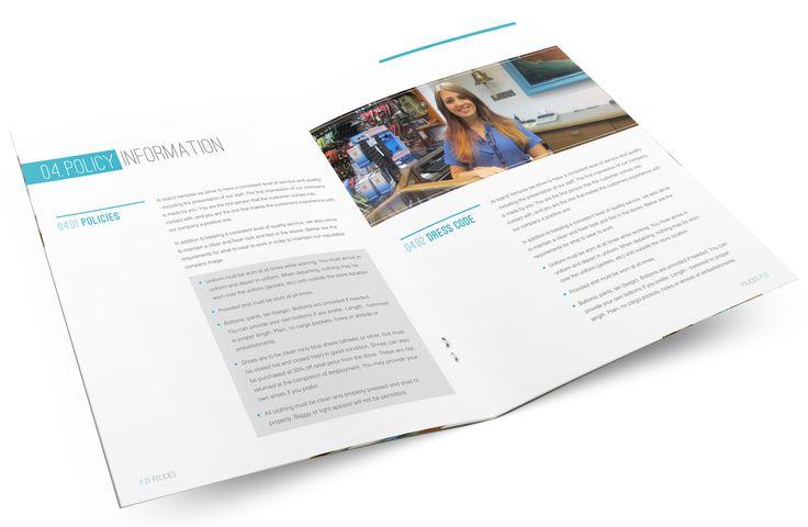 Employee Handbook Design | Graphic Design | Website Design | Employment Design