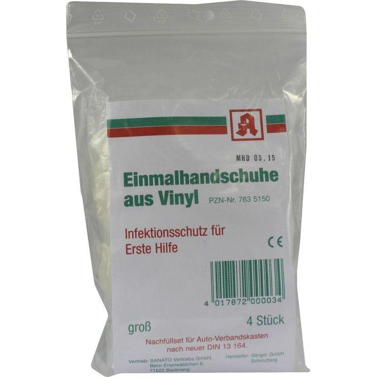 AIDS Schutzhandschuhe Vinyl:   Packungsinhalt: 4 St Handschuhe PZN: 07635150 Hersteller: Mepha GmbH Preis: 1,03 EUR inkl. 19 % MwSt.…