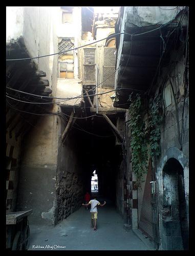 old road in old city of damascus ( alqimariya ) damascus