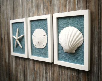 Beach Cottage Chic pared arte decoración náutica decoración