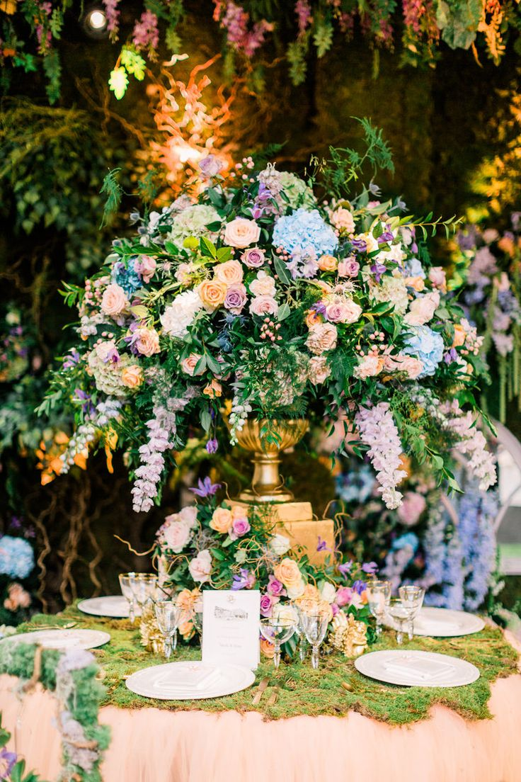 Pictures Of Garden Pathways And Walkways: Enchanted Garden Wedding Theme Floral Inspiration