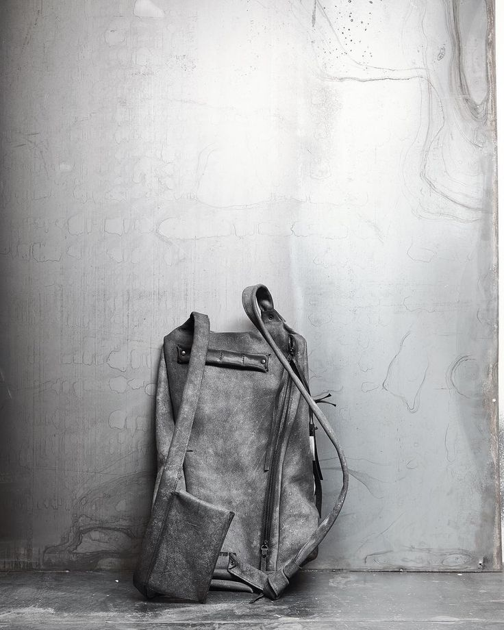 Asymmetric leather backpack 076Y _______________ . #ytn7