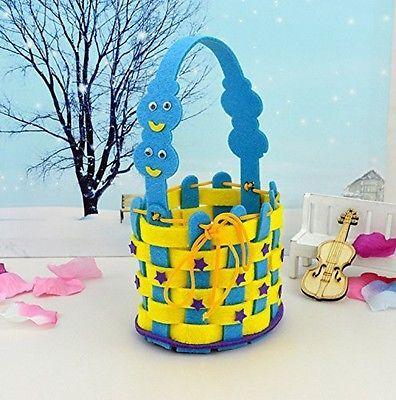 Y&Y Star DIY Hand-weaved Wicker Basket for Boys Girls Kids Early Education Toy