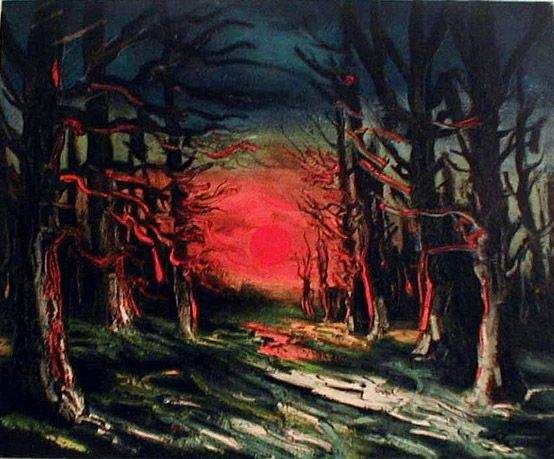 Maurice de Vlaminck - Sunset in the Forest of Senoches
