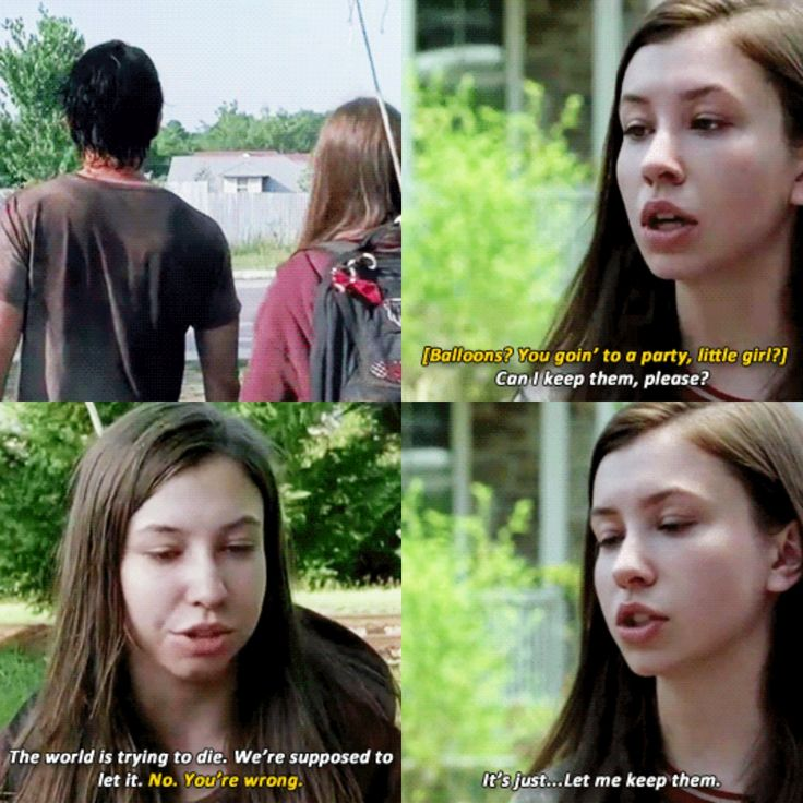 she wanted to keep the balloons because it reminds her of Glenn [gifset]