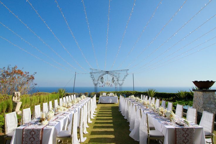 Dinner Table at Cliff Top Garden b by Tirtha Bridal Uluwatu Bali