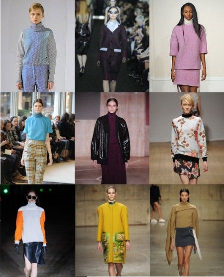 Turtle Necks  The essential layering tool for another season. Top row from left: Pringle of Scotland, Erdem, J. JS Lee.  Middle row from left: Emilia Wickstead, Roksanda Ilincic, Clements Ribeiro.  Bottom from left: Thomas Tait, Peter Pilotto.
