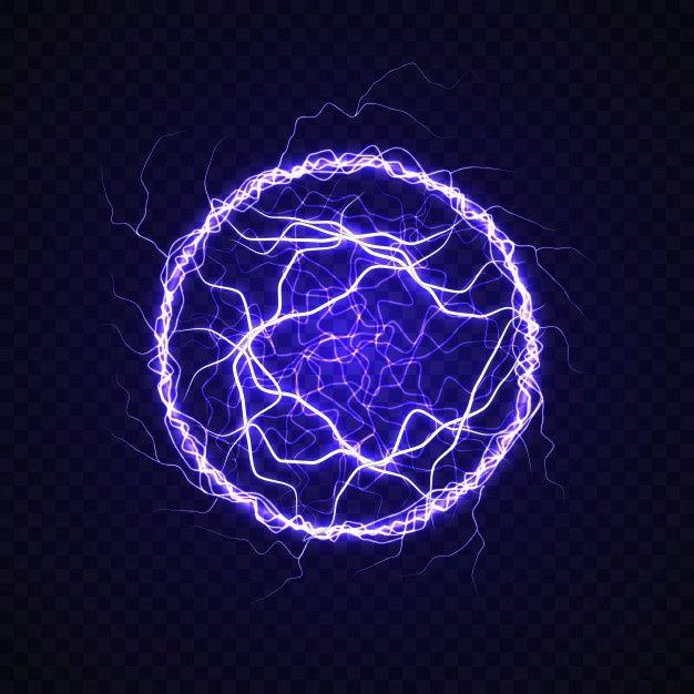 Electric Ball With Lightning Effect Ball Lightning Magic Symbols Lightning