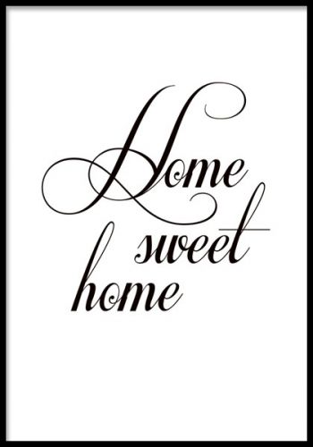 Home sweet home, poster