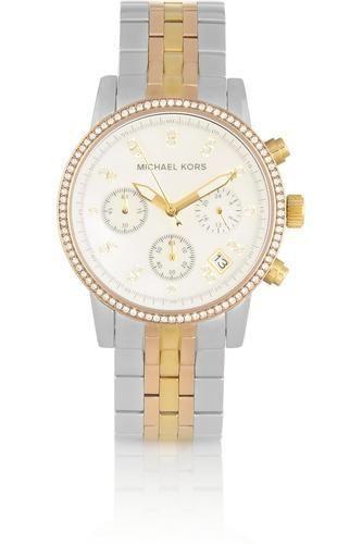 Ritz Swarovski crystal-embellished two-tone stainless steel watch #watch #women #covetme #michaelkors