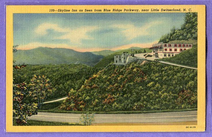 Skyline Inn, Blue Ridge Parkway, NORTH CAROLINA, Vintage, UNUSED LINEN pc.