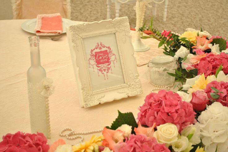 vintage table bride