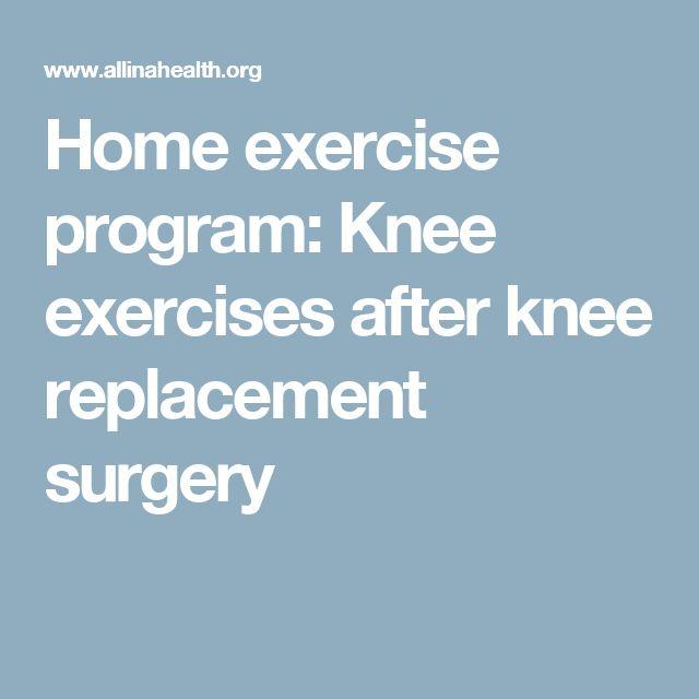 Exercise Program Knee Home Exercise Program
