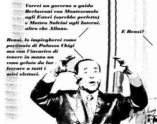Nel nuovo governo di Berlusconi, nel caso vincesse, ci sarà proprio da stare allegrei Silvio Berlusconi l'illusionista, invade le tv per mettere il cappello sulla vittoria della destra, ma già lavora all'accordo con Renzi. Fa la parte del leader del centrodestra che unito vince, ma no #silvioberlusconi