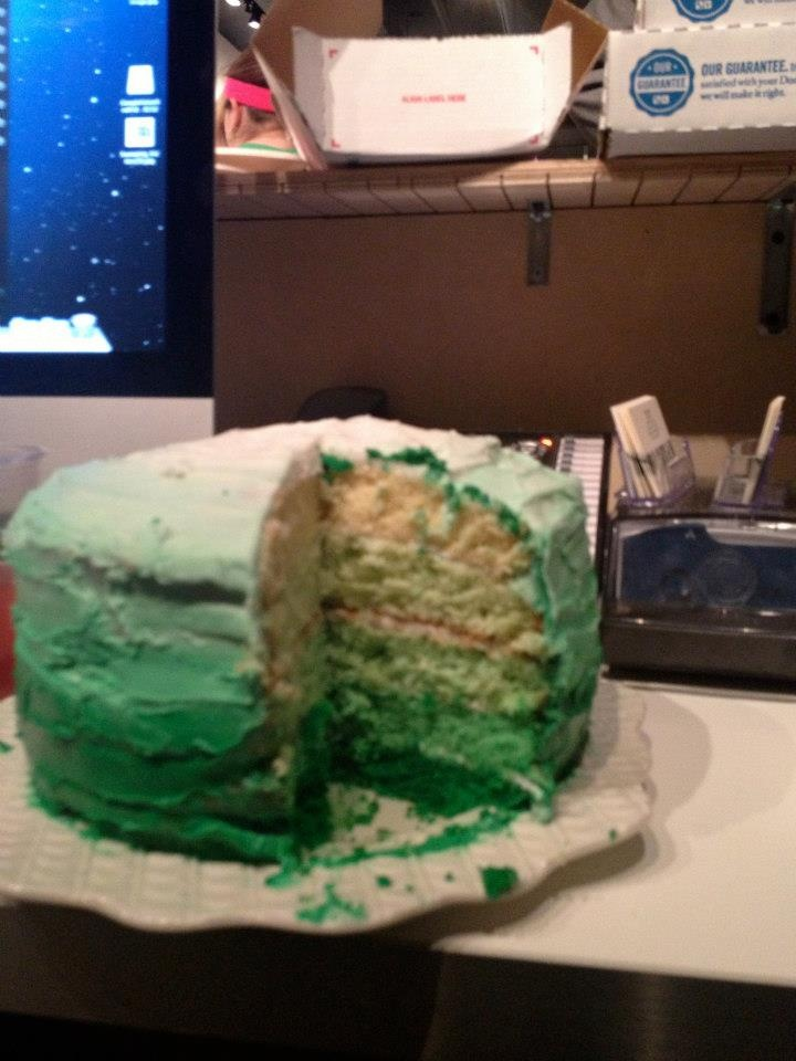Best ombre birthday cake ever. Thank you @Sophie Hahn!