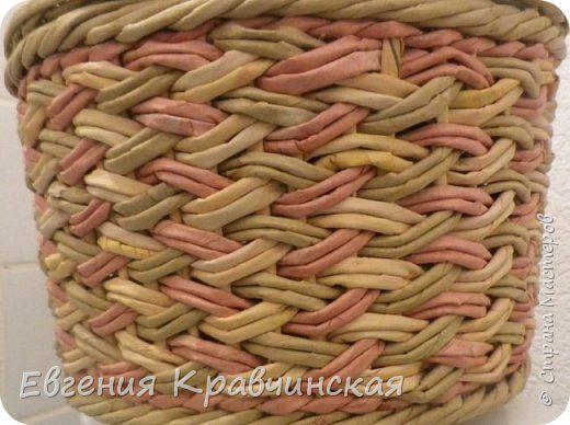 Поделка изделие Плетение Корзинки заказные Бумага газетная Трубочки бумажные фото 1