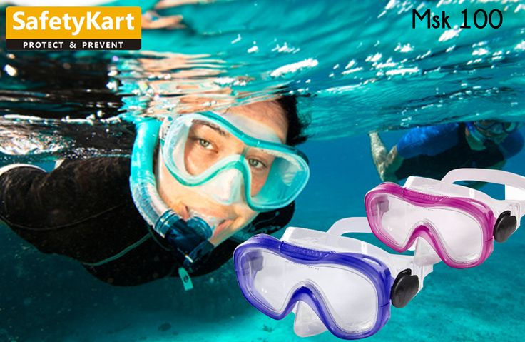 Swimming mask for all for scuba divers snorkelers. These comes with Silicone skirt & strap along with buckle of polymide & ABS Frame. #SwimSafe #SportsSafety