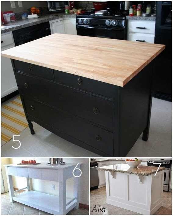 Diy Kitchen Island Ikea diy kitchen island from cabinets diy kitchen island from stock