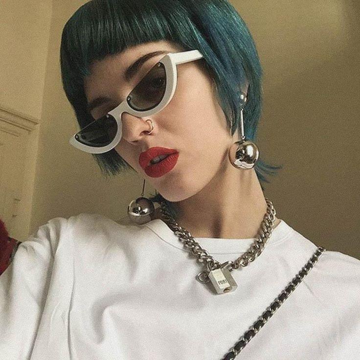 WHITE vintage Semi Rimless Sunglasses