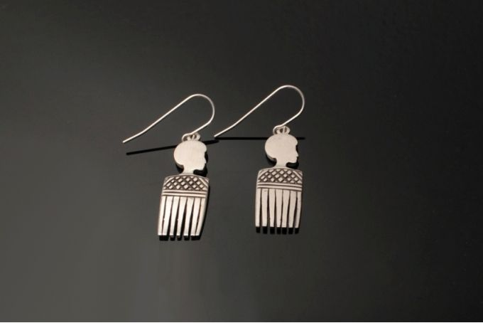 Afro Comb Earrings by Duke & Dutch on hellopretty.co.za