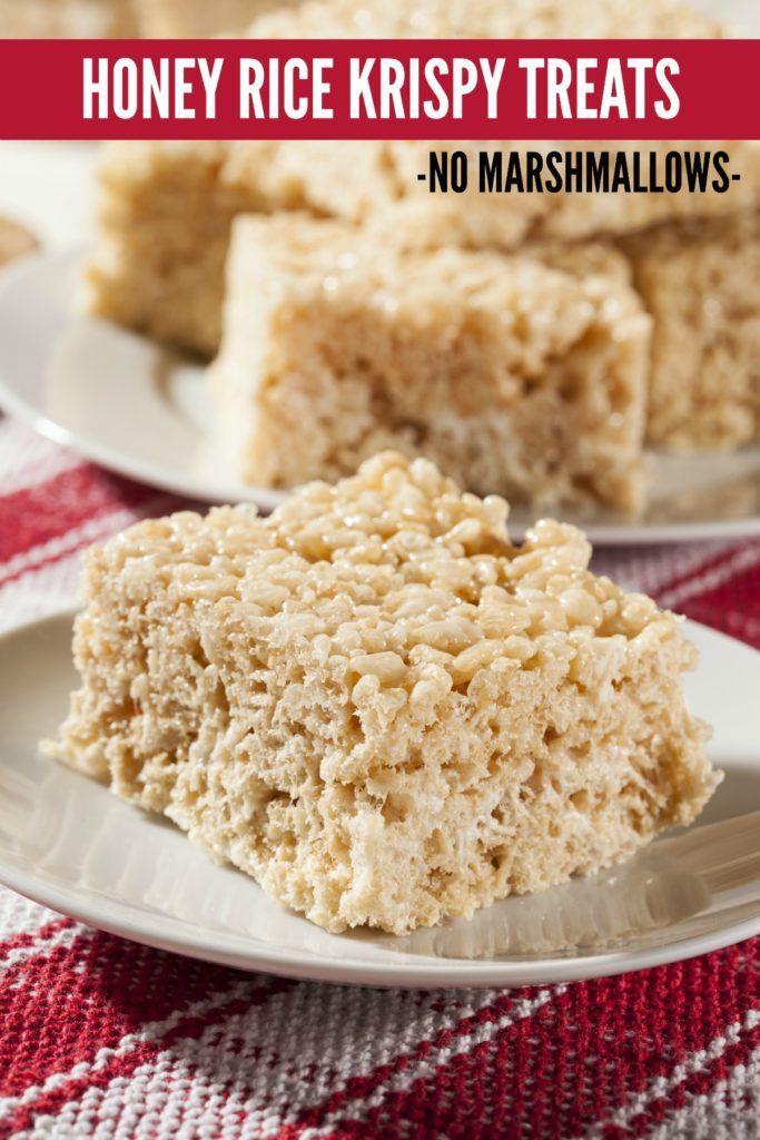 Honey Rice Krispy Treats No Marshmallows Recipe Rice Krispie