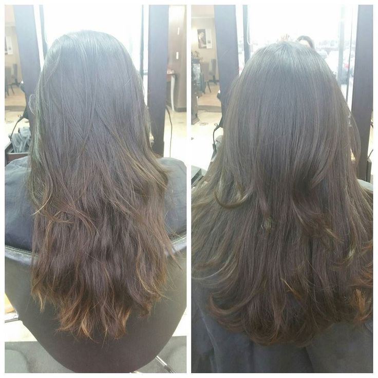 "awesome Avant-Apres : Amanda J on Instagram: ""Before & After Color, Haircut, Treatment, and Blowout! Glamorous Silky Smooth Hair with Exquisite Shine! To Book an appointment you can…"""