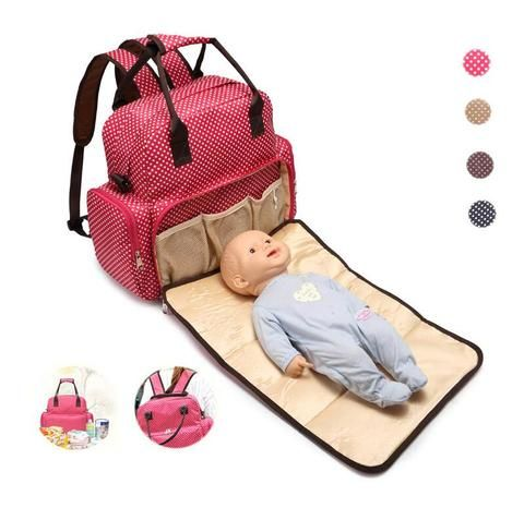Large Capacity Diaper Bag  - Beige,Black,Brown,Red  Backpack Best Baby Essentials Organization Stylish Girl Newborn Cute For girls Chic Mum Mom Fashion Trendy Ideas Cheap Products Store Shops Websites Link Awesome Gifts Ideas AuhaShop.com