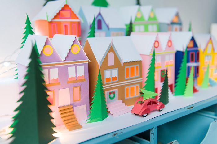 Hallmark - A Colorful Christmas Village - www.chloefleury.com
