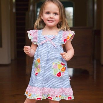 Holly French Blue Bubble Dress - Oobi.com.au