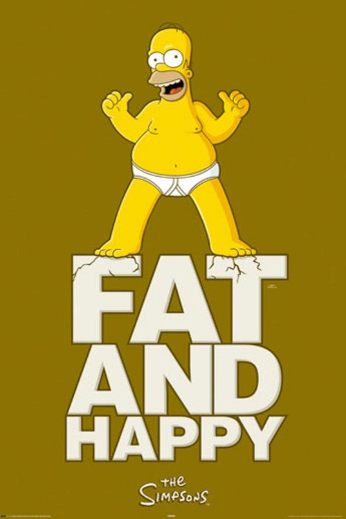 #Poster The #Simpsons #Fat and #Happy