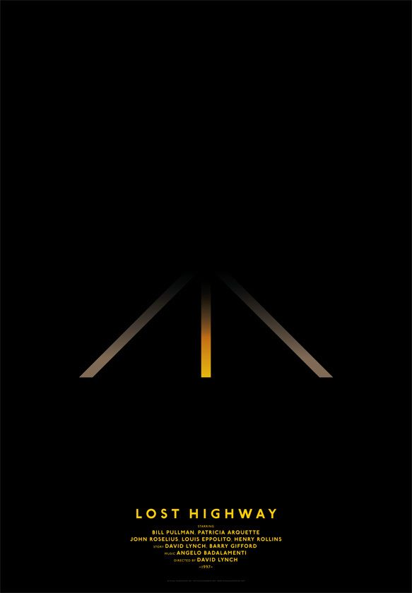 affiches de films minimalistes lost highway   Affiches de film minimalistes   photo minimaliste Michal Krasnopolski image film design affiche