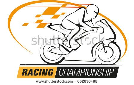Vector abstract, racing championship logo event.
