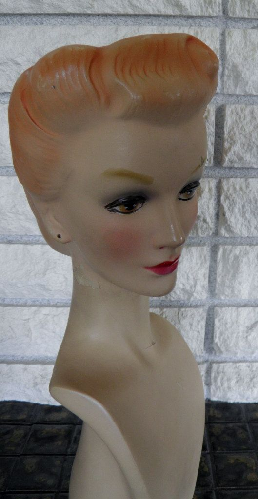 French Millinery Head Mannequin Hat Display by veryfrenchbydesign,