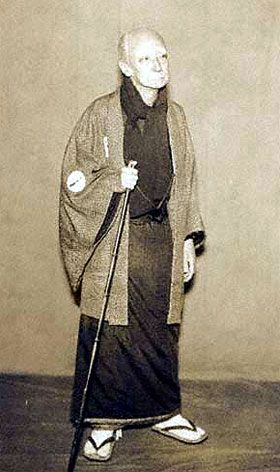 "Kataoka Nizaemon XI  playing the roles of Yorozuya Sukeemon in the drama ""Kamiko Jitate Ryômen Kagami"", which was staged in October 1931 at the Meijiza"