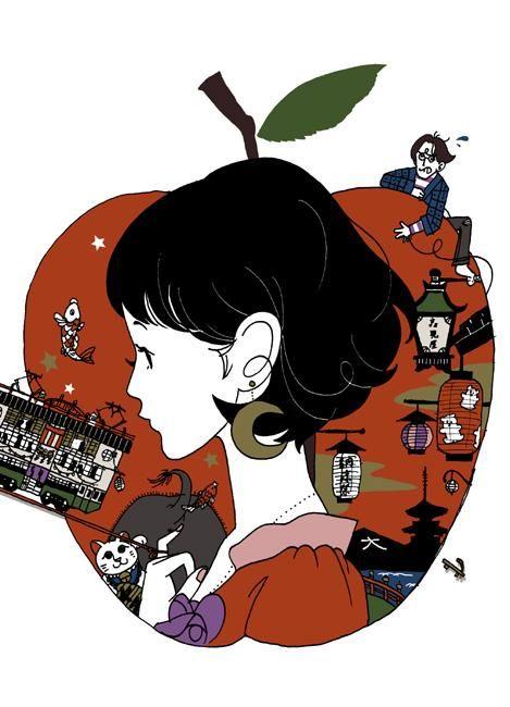 Twitter Nakamura Yusuke rough illustration 夜は短し歩けよ乙女