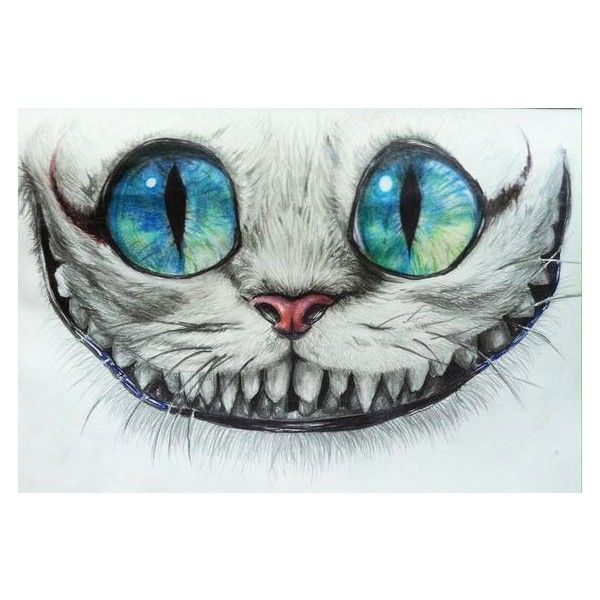 Cheshire Cat by kyrisnowpaw ❤ liked on Polyvore featuring home, home decor, inspirational home decor and black home decor