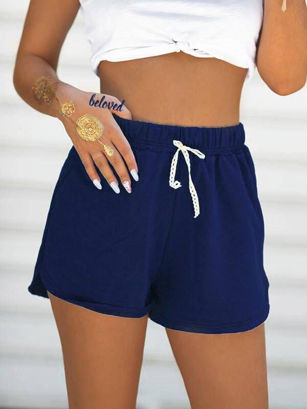 Sweatshirt Loose Navy Blue Shorts