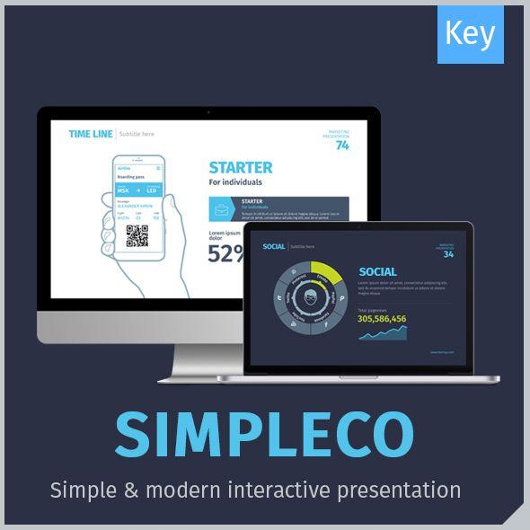 SIMPLECO: Simple Keynote Template